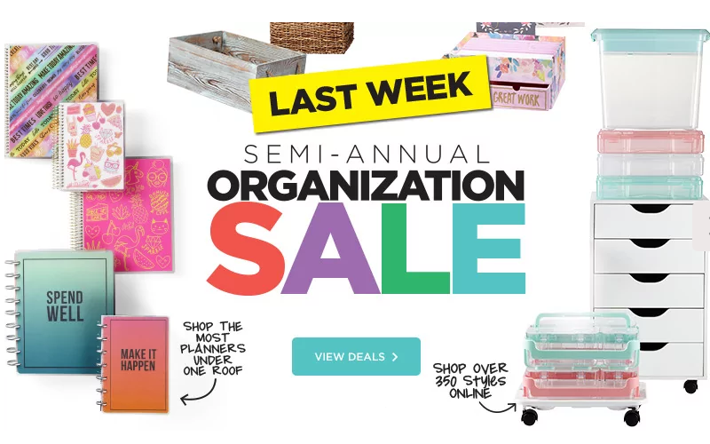 Michael's Storage Sale *Last Week* + Extra 20% OFF Coupon!
