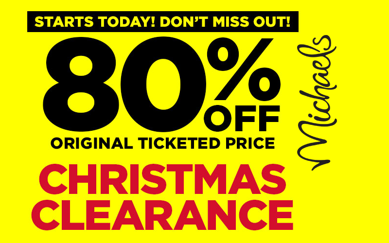 80% OFF Michael's Christmas Clearance!!