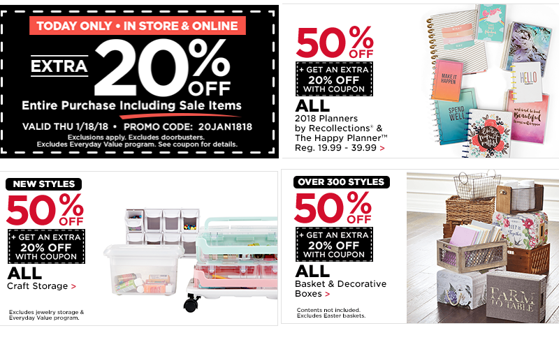 WOWZA~ 50% OFF Storage & Planners + EXTRA 20% OFF!!