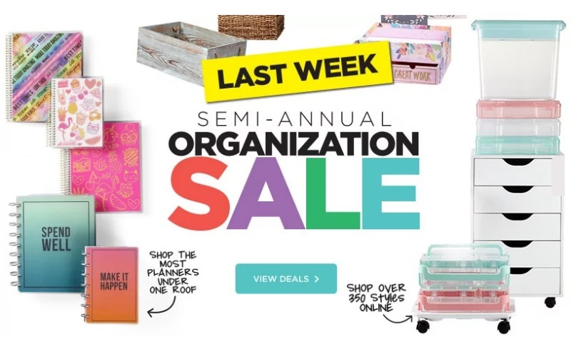 Organization Sale, Last Week + EXTRA 20% off coupon!!