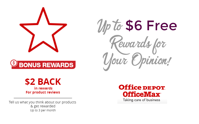 FREE $6 Office Depot Rewards.. Just for Your Opinion!!