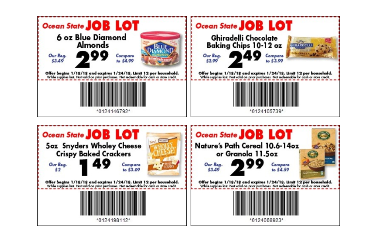 NEW Job Lot Coupons + Matchups~ Valid 1/18-24!