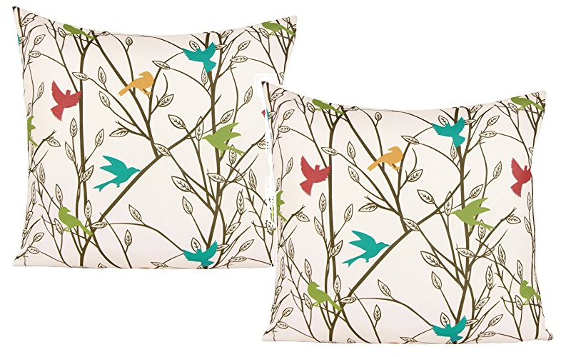 $1.40 Colorful Birds Throw Pillow Cover! Ships FREE!!