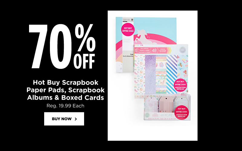 70% OFF Scrapbook Paper Pads & MORE!!! (Today Only)