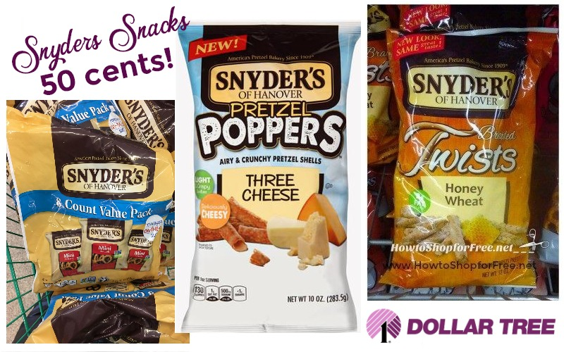Snyders Snacks only 50¢ each at Dollar Tree!!