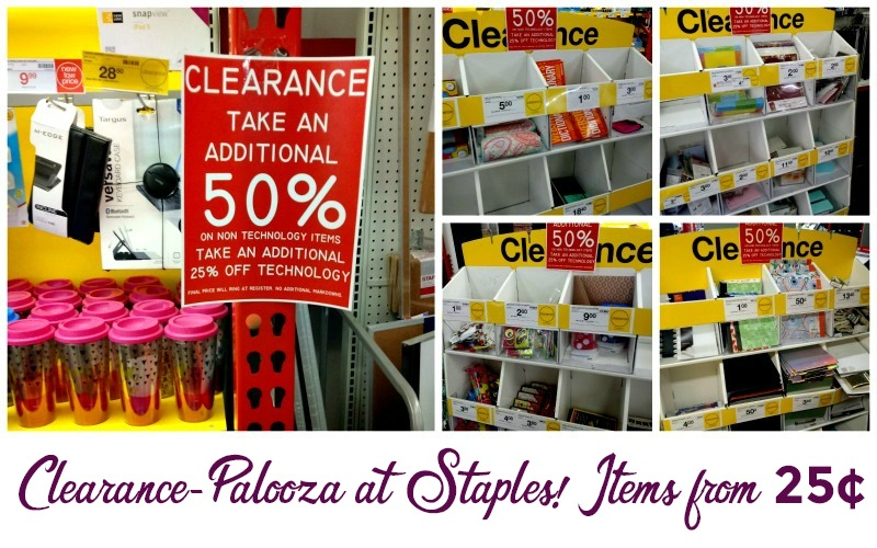 Up to 50% OFF Clearance at Staples!! (Items from 25¢)