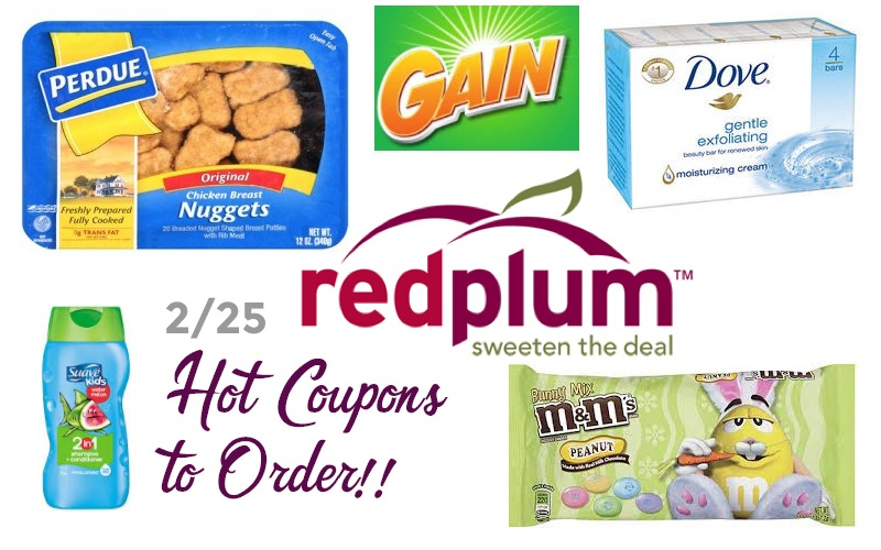 HOT Coupons to Order from the 2/25 RedPlum!!