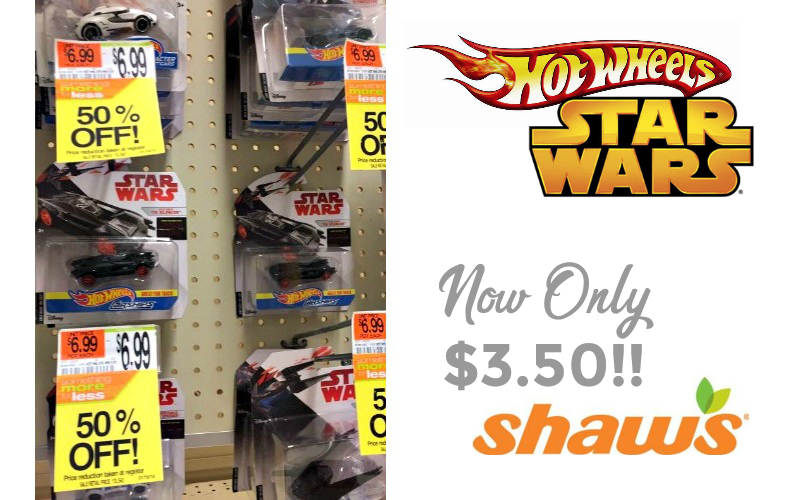 50% OFF Star Wars Hot Wheels at Shaw's!! Great Gifts