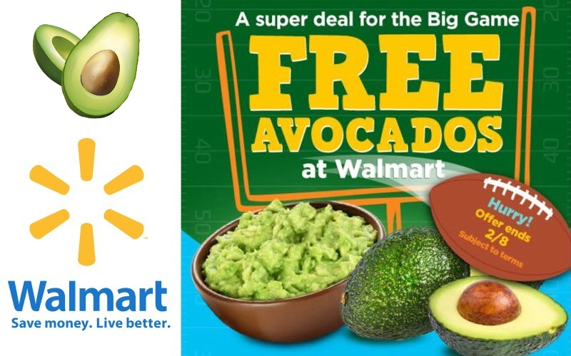 FREE AVOCADOS at Walmart!! (Through 2/8)