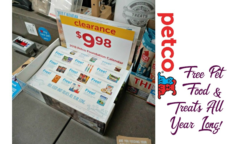2018 Petco Calendar for $9.98~ FILLED WITH FREEBIE COUPONS!