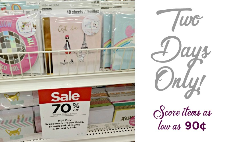 Boxed Cards, Scrapbook Paper & Albums from 90¢!!!