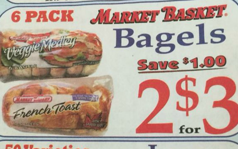 Yum! Bagels For Only $1.50 at Market Basket!