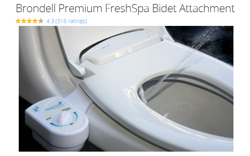 Over 70% Off Brondell Premium FreshSpa Bidet Attachment