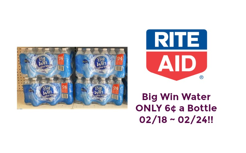 Big Win Water ONLY 6¢ at Bottle at Rite Aid 02/18 ~ 02/24 – NO COUPON NEEDED!!