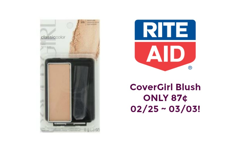 CoverGirl Classic Color Blush ONLY 87¢ at Rite Aid 02/25 ~ 03/03