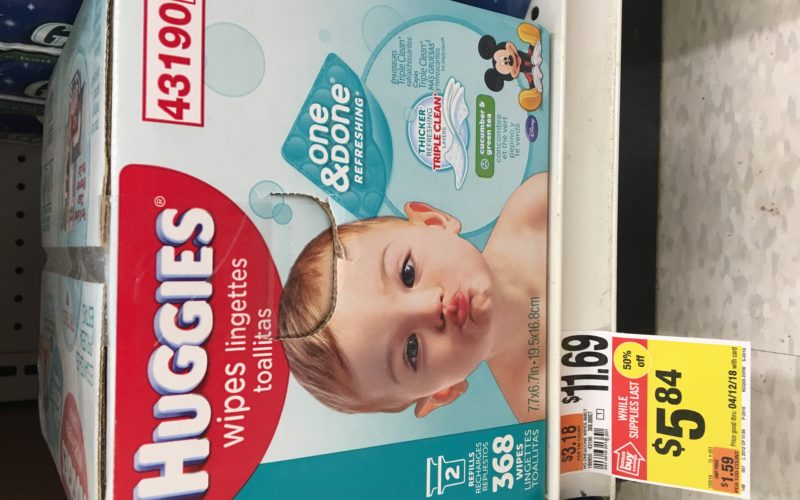 WOW! 368 Huggies Wipes for $5.34 or LESS!