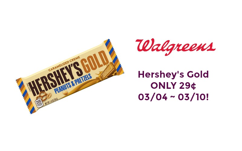 Hershey's Gold ONLY 29¢ at Walgreen's 03/04 ~ 03/10!!