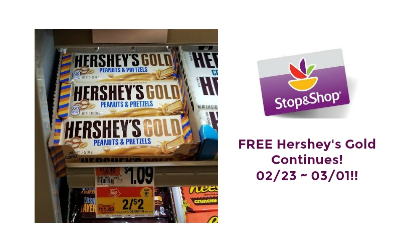 FREE Hershey's Gold Continues at Stop & Shop 02/23 ~ 03/01!!