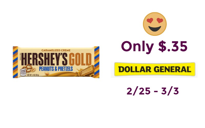 Hershey's Gold Candy Bars Only $.35 at Dollar General