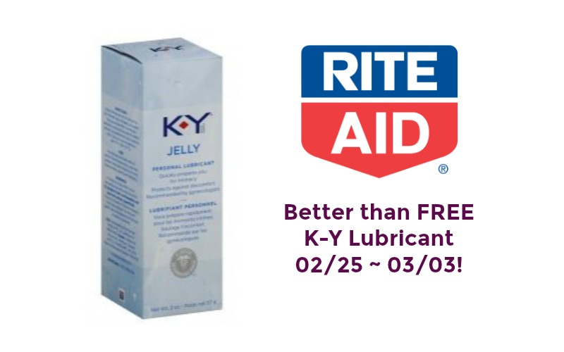 Better than FREE K-Y Lubricant at Rite Aid 02/25 ~ 03/03!