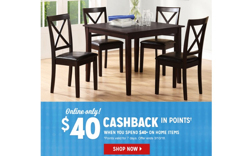 $40 CashBack On Home Purchase Of $40 or More at Kmart!