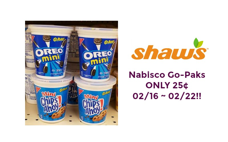 Nabisco Go-Paks ONLY 25¢ at Shaw's 02/16 ~ 02/22!!