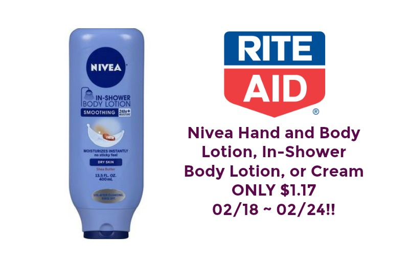 Nivea Lotions ONLY $1.17 at Rite Aid 02/18 ~ 02/24!!