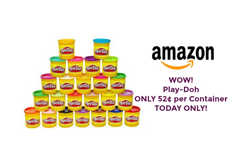 WOW! Play-Doh ONLY 52¢ per Container ~ TODAY ONLY!!