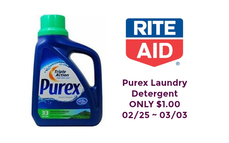 Purex Laundry Detergent ONLY $1.00 at Rite Aid 02/25 ~ 03/03!!