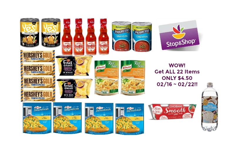 WOW! Get ALL 22 Items ONLY $4.50 at Stop & Shop 02/16 ~ 02/22!!