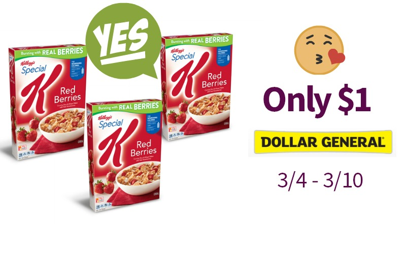 Oh YAY! Special K for Only $1! My Fav!