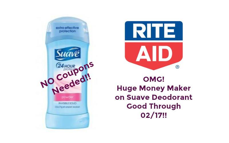 RUN RUN RUN! Suave Deodorant Money Making Double Dip at Rite Aid ~ Good Through 02/17!