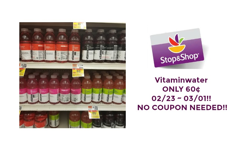 Vitaminwater ONLY 60¢ at Stop & Shop 02/23 ~ 03/01 – NO COUPON NEEDED!!