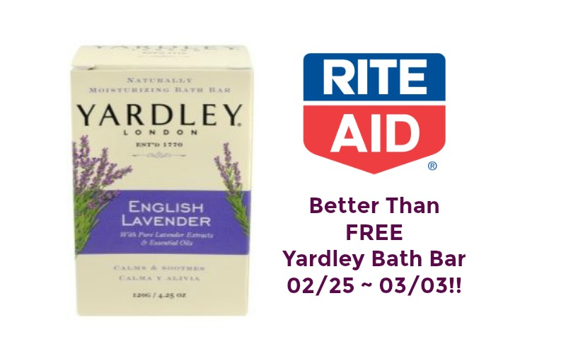 Better than FREE Yardley Bath Bars at Rite Aid 02/25 ~ 03/03!! – NO COUPONS NEEDED!