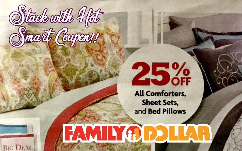 25% OFF All Bedding at Family Dollar + Smart Coupon to Stack!