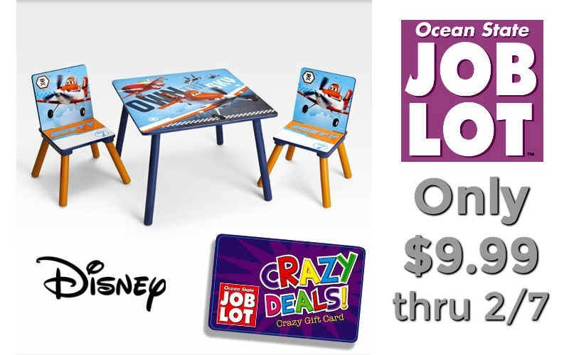 Disney 3pc. Table & Chairs Set UNDER $10 at Job Lot!