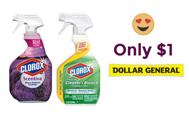 Stock Up Price On Clorox Sprays at Dollar General!