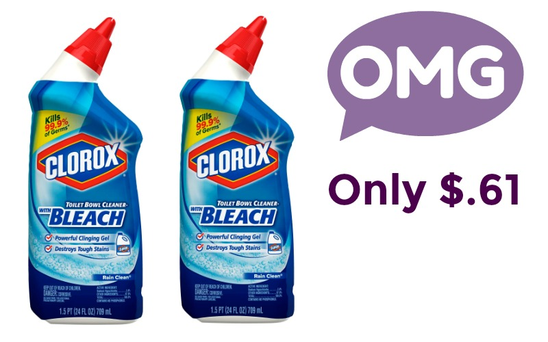 Keep Your Toilet Clean for Less! Only $.61 For Clorox Toilet Bowl Cleaner!
