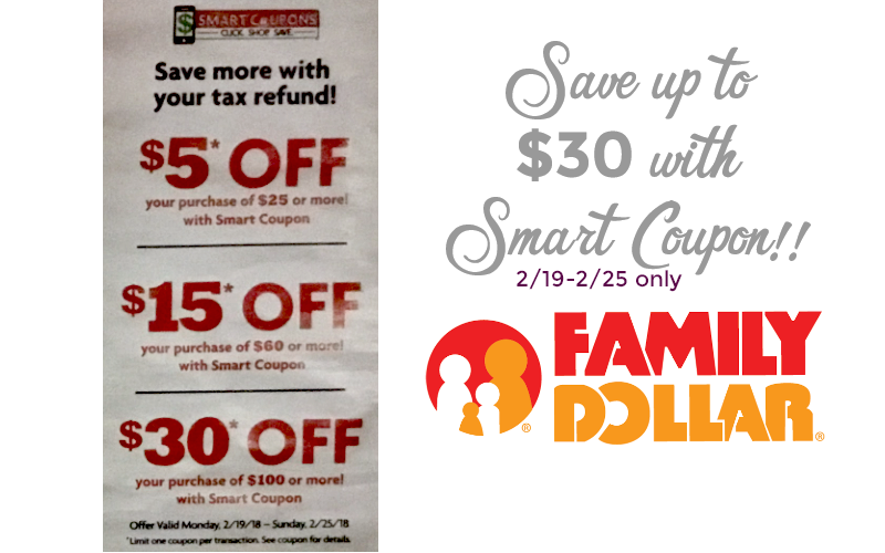 Save Up To $30 at Family Dollar (2/19-25) with Smart Coupon!