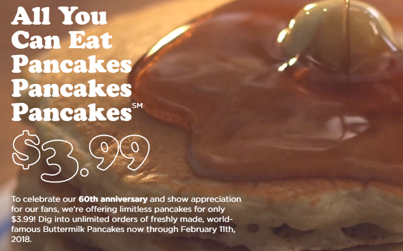 YUM~ All-You-Can-Eat Pancakes at IHOP for $3.99!!