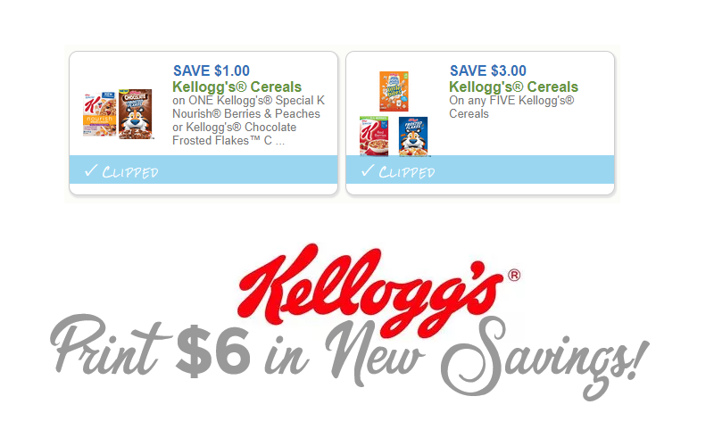 $4 in NEW Kellogg's Coupons~ Print Now!!
