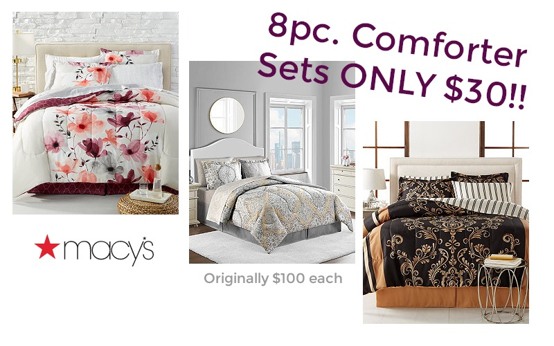 RUN!! Macy's Has 8pc Comforter Sets 70% OFF!! ONLY $30!!!