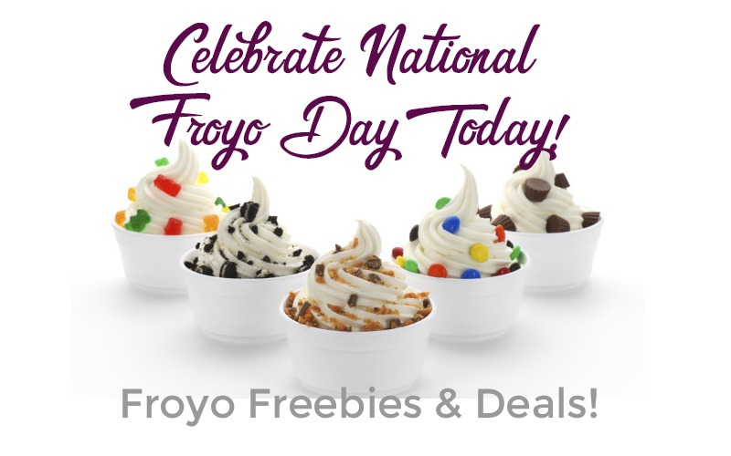 WHOOP.. Today is #NationalFroyoDay = Froyo Freebies & Deals!!