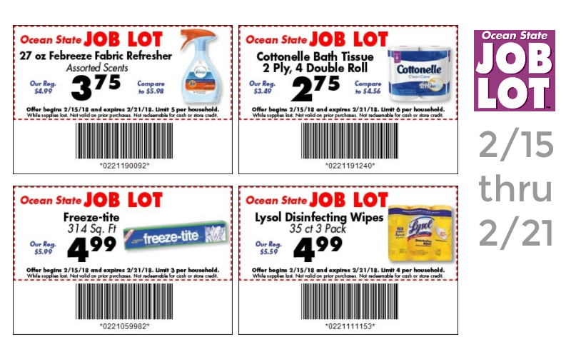 Ocean State Job Lot Coupon Matchups (2/15-2/21)