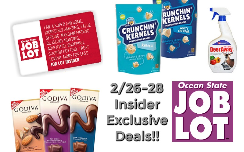 NEW Job Lot Insider Exclusive Deals!! (2/26-28 Only)