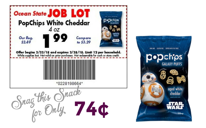 74¢ PopChips White Cheddar~ SUPER SIMPLE STACK!