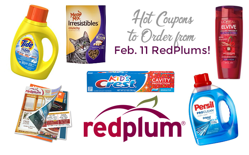 HOTTEST Coupons You Should Order from 2/11 RedPlums!!