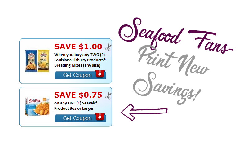 Seafood Fans.. Swim Over to Sweet Savings!!