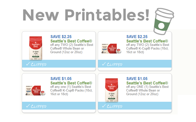 $6.60 in NEW Seattle's Best Coffee® Coupons~ Or as I call coffee.. Lifeblood, lol.