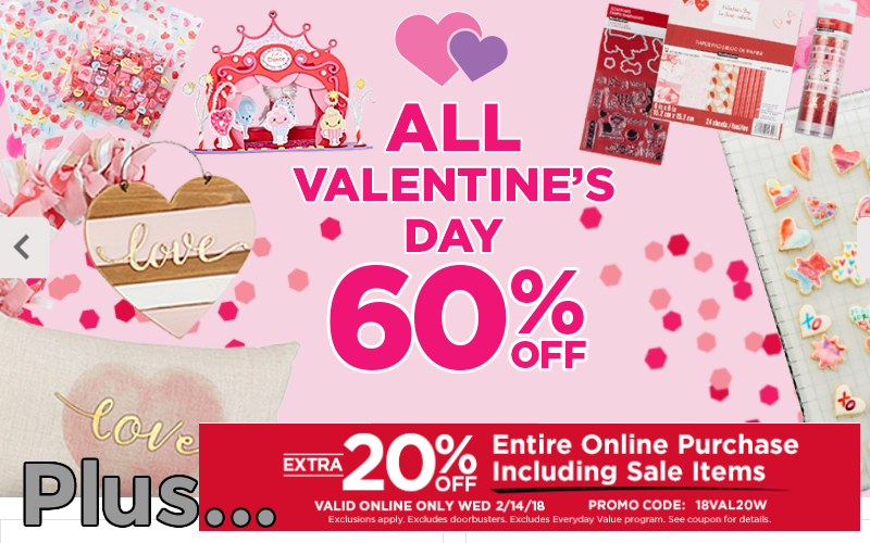 Valentine's Crafts, Decor & More~ 60% OFF + Extra 20% OFF!! (Today Only)